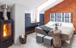 Печь-камин в интерьере деревянного дома: выбор настоящего или декоративного домашнего очага