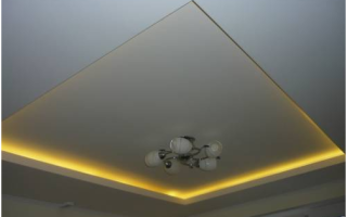 Двухуровневые потолки из гипсокартона с подсветкой: описание, расчет материала, прокладка электрики и поэтапное изготовление конструкции
