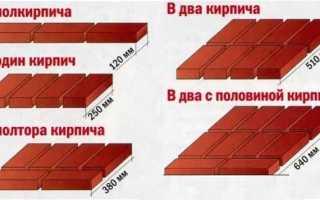 Как осуществляется кладка в два кирпича: схемы размещения блоков, процесс возведения стены