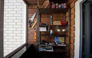 Какой изготовить стеллаж на балкон своими руками: виды конструкций