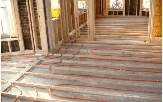 Теплый водяной пол без бетонной стяжки
