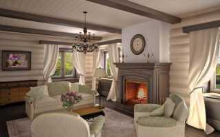 Интерьер гостиной в деревянном доме: самые популярные направления дизайна