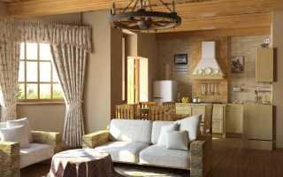 Дизайн интерьера деревянного дома внутри: варианты красивого оформления жилища в стиле кантри