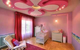 Потолки из гипсокартона в детскую: варианты дизайна спальни для мальчика и девочки, особенности монтажа