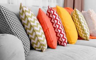 Как сшить подушки для дивана своими руками: выбор материала, создание выкройки и пошив