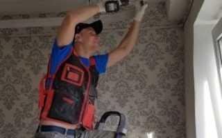 Монтаж натяжных потолков технология, установка тканевых двухуровневых потолков своими руками