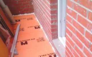 Утепление пола на балконе и лоджии пеноплексом под стяжку и на обрешетку