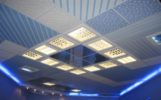 Металлический кассетный подвесной потолок: установка своими руками