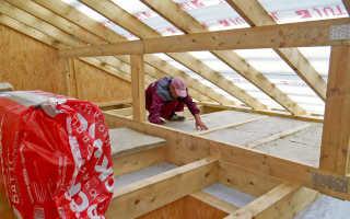 Правильное утепление потолка минватой в частном доме