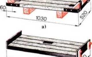 Виды и размеры поддона с кирпичом для транспортировки и хранения материала