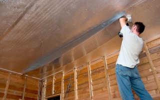 Утепление потолка фольгированным утеплителем: применение фольгоизолона в деревянном доме и квартире