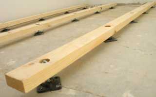 Установка лаг для деревянного пола и бетонного основания своими руками: пошаговая инструкция