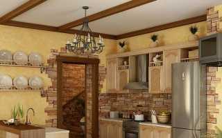 Как и чем отделать стены на кухне: оформление, покраска при ремонте в частном доме