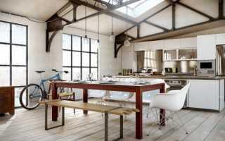 Интерьер кухни в стиле лофт: основные черты дизайна, подбор мебели и декора