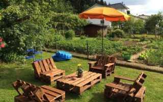 Садовая мебель из поддонов своими руками: фото и варианты изготовления