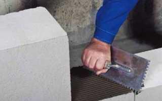 Расход клея для газосиликатных блоков на 1 м3